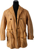 "Movie/TV Memorabilia:Costumes, A Brad Pitt Leather Coat from ""Legends of the Fall.""..."
