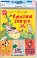 Golden Age (1938-1955):Cartoon Character, Four Color (Series One) #13 Reluctant Dragon - File Copy (Dell, 1941) CGC VF 8.0 Off-white pages....