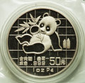 China:People's Republic of China, China: People's Republic palladium Proof Panda 50 Yuan 1989,...