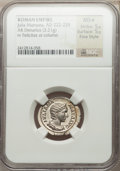 Ancients:Roman Imperial, Ancients: Julia Mamaea, mother of Severus Alexander (AD 222-235).AR denarius (3.21 gm)....