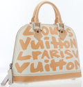 Luxury Accessories:Bags, Louis Vuitton 2001 Limited Edition Monogram Graffiti by StephenSprouse Peach Alma Haute MM Bag. ...