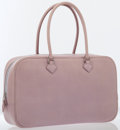 Luxury Accessories:Bags, Hermes Mauve Pale Box Nepal Leather Plume Elan Bag with PalladiumHardware. ...