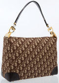 Luxury Accessories:Bags, Christian Dior Burgundy Diorissimo Canvas Shoulder Bag with GoldHardware. ...