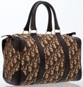 Luxury Accessories:Bags, Christian Dior Brown Monogram Canvas Boston Bag with Gold Hardware....