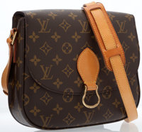 Louis Vuitton Classic Monogram Canvas Saint Cloud Bag with Brass Hardware