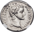 Ancients:Roman Imperial, Ancients: Tiberius (AD 14-37). AR denarius (19mm, 3.64 gm, 5h)....