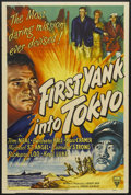 "Movie Posters:War, First Yank Into Tokyo (RKO, 1945). One Sheet (27"" X 41"") Style A.War. Starring Tom Neal, Barbara Hale, Marc Cramer, Michael..."