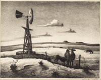 THOMAS HART BENTON (1889-1975) West Texas Lithograph 11.5in. x 15in. Signed lower right  The history of this Thoma