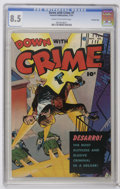 Golden Age (1938-1955):Crime, Down with Crime #1 Crowley Copy pedigree (Fawcett, 1951) CGC VF+ 8.5 Cream to off-white pages. Very attractive, colorful cop...
