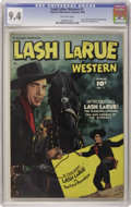 Golden Age (1938-1955):Western, Lash LaRue Western #1 (Fawcett, 1949) CGC NM 9.4 Off-white pages.Fawcett scored a coup by gaining the rights to publish the...