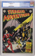 Golden Age (1938-1955):Science Fiction, Strange Adventures #18 River City pedigree (DC, 1952) CGC VF/NM 9.0Off-white pages. This issue's Captain Comet cover is cre...