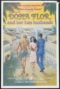 """Dona Flor and Her Two Husbands (New Yorker Films, 1978). One Sheet (27"""" X 41""""). Comedy. Starring Sonia Braga..."""