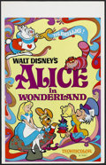 "Movie Posters:Animated, Alice in Wonderland (Buena Vista, R-1974). Window Card (14"" X 22"").Animated Musical. Starring the voices of Kathryn Beaumon..."