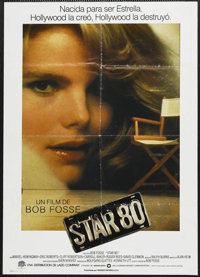 "Star 80 (Warner Brothers, 1983). Spanish Language One Sheet (27"" X 41""). Drama. Starring Mariel Hemingway, Eri..."