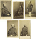 Photography:CDVs, Five Uniformed Cartes de Visite of Benjamin Butler. Butler's military career began long before the Civil War; he served... (Total: 5 )