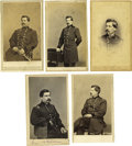 "Photography:CDVs, Five George McClellan Cartes de Visite in Uniform. A larger-than-life figure to be sure; ""Little Mac"" was one of the mos... (Total: 5 items)"