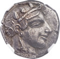 Ancients:Greek, Ancients: ATTICA. Athens. Ca. 465-460 BC. AR tetradrachm (23mm, 16.54 gm, 5h)....