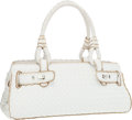 "Luxury Accessories:Bags, Bottega Veneta White Intrecciato Nappa Leather Tote Bag. Good toVery Good Condition. 15.5"" Width x 6"" Height x 5"" Dep..."