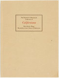 Books:Americana & American History, [Californiana]. Auction Catalog. A Fine Collection ofCaliforniana, a Selection of Distinguished RareBooks,...