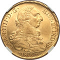 Chile, Chile: Charles IV gold 8 Escudos 1800 So-JJ AU Details (ExcessiveSurface Hairlines) NGC,...