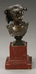 Fine Art - Sculpture, European:Antique (Pre 1900), after J. B. Carpeaux (French, 1827-1875). La rieuse napolitaine.Bronze. 4in. x 2.5in. x 2.5in.. Signed lower right, stamped...