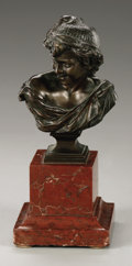 Fine Art - Sculpture, European:Antique (Pre 1900), after J. B. Carpeaux (French, 1827-1875). Le rieur napolitain.Bronze. 4in. x 2.5in. x 2.5in.. Signed lower right. Stamped w...