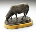 Decorative Arts, Continental:Other , Rosa Bonheur (French 1822-1899). Un Mouton Broutanr. Bronze.6.6in.x 9.2in.. Signed on base. Foundry mark. ...