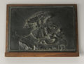 Sculpture, Antoine-Louis Barye (French, 1795-1875). Eagle and Serpent. Bronze plaque. 4.5in. x 6.2in. x .2in.. Inscribed lower right. ... (Total: 1 Item Item)