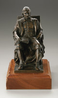 Fine Art - Sculpture, American:Modern (1900 - 1949), after Daniel Chester French (American, 1850-1931). John Harvard.Bronze. 7.5in. x 3.75in. x 6in.. Foundry mark: Gorham &C...