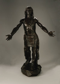 Charles Henry Humphriss (American, 1867-1934) Appeal to the Great Spirit Bronze 30.25in. x 18.6in. x 18in. Signed and da...