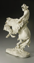 Fine Art - Sculpture, American:Modern (1900 - 1949), Charles Henry Humphriss (American, 1867-1934). Bucking Bronco.Plaster (mould). 19.25in. x 10.25in. x 7in.. Signed lower lef...