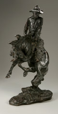 Fine Art - Sculpture, American:Other , Charles Henry Humphriss (American, 1867-1934). Bucking Bronco.Bronze. 19in. x 11in. x 7in.. Signed lower right. Foundry mar...