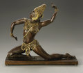 Fine Art - Sculpture, American:Modern (1900 - 1949), Malvina Hoffman (American, 1887-1966). Egyptian Dancer, NyotaInyokaa. Parcel Gilt Bronze. 11in. x 12.6in. x 3.75in.. Signed...