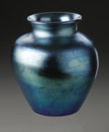 Art Glass:Steuben, An American Glass Vase. Steuben, Early Twentieth Century. The 'BlueAurene' vase, marked underside Steuben Aurene 26...