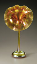 Art Glass:Tiffany , An American Glass Vase. Tiffany Studios, Late Nineteenth Century.The gilt iridescent 'Jack-in-the-Pulpit' vase, 'onio...