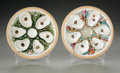 Ceramics & Porcelain, Two American Porcelain Oyster Plate. Union Porcelain Works, Greenpoint, New York, c. 1879. Two six well oyster plate d... (Total: 2 Items Item)