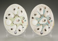 Ceramics & Porcelain, Two American Porcelain Oyster Plates. Union Porcelain Works, Greenpoint, New York, c. 1881. Two six well shell-form oy... (Total: 2 Items Item)
