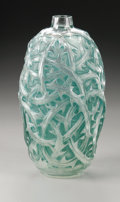 Art Glass:Lalique, A French Glass Vase. R. Lalique, 1921. In the 'Ronces' pattern withgreen patination, unsigned. 9.2in. high. Provenanc...