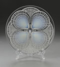 Art Glass:Lalique, A French Glass Plate. R. Lalique, 1924. In the 'Coquilles' pattern,opalescence to the center of the shells, marked un...