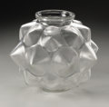 Art Glass:Lalique, A French Glass Vase. R. Lalique, 1927. The 'Champagne' pattern vasein a satin finish, marked underside R. LALIQUE F...