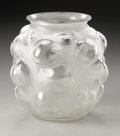 Glass, A French Glass Vase. R. Lalique, 1927. The frosted vase in the 'Tulipes' pattern depicting raised clear tulips, marked... (Total: 1 Item Item)
