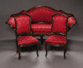 Furniture: Continental, An Italian Rococo Style Salon Suite. possibly Venice, nineteenthcentury. A five piece Italian Venetian Rococo style w... (Total: 5Items)