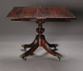 Furniture , A Federal Style Breakfast Table. American, Twentieth Century. A mahogany Federal-style flip top breakfast table, with ... (Total: 1 Item Item)
