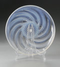 Art Glass:Lalique, A French Glass Plate. R. Lalique, 1931. The opalescent glass platein the 'Poissons No. 2' pattern, marked to the insi...