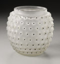 Art Glass:Lalique, A French Glass Vase. R.Lalique, 1933. In the 'Cactus' pattern offrosted glass with series of raised points highlighte...