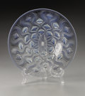 Art Glass:Lalique, A French Glass Plate. R.Lalique, 1935. In the 'Bulbes No.2' patterndepicting raised opalescent ribbed lozenge, stampe...