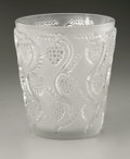 Art Glass:Lalique, A French Glass Vase. R. Lalique, 1938. The frosted vase in the'Muscat' pattern with raised clear grape, marked unders...