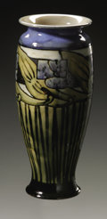 Ceramics & Porcelain, British:Modern  (1900 1949)  , An English Pottery Vase. Doulton & Co., 1927. The primarilygreen and blue vase decorated with stylized floral pattern...