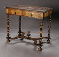 Furniture, A William & Mary Style Table. English, Nineteenth Century. A William & Mary style marquetry inlaid walnut table with t... (Total: 1 Item Item)