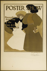Maxfield Parrish (American 1870 - 1966) Poster Show, Pennsylvania Academy of the Fine Arts Philadelphia, Early 20th Cent...